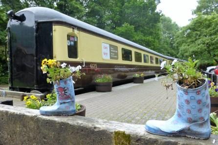 Tintern Old Station shop and alternative flower pots