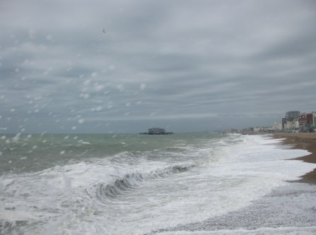 Brighton seafront on a blustery day.