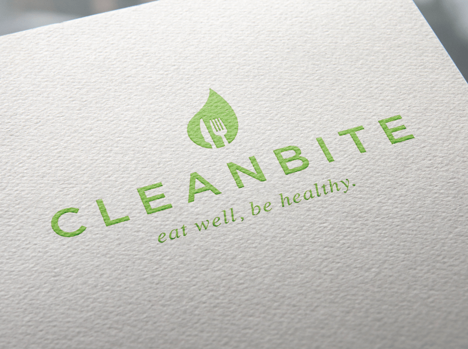 Cleanbite logo design for catering service