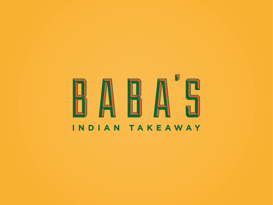 Babas indian takeaway brand identity and menu design