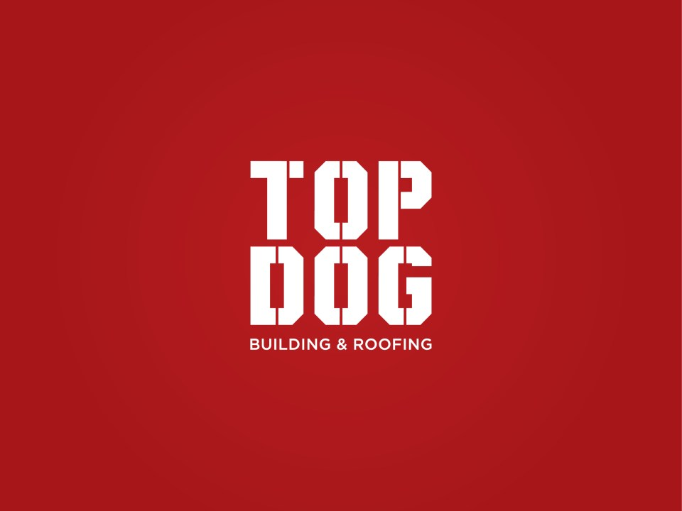 logo for building and construction service top dog