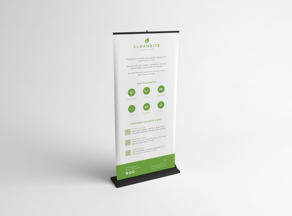 Cleanbite promotional banner design Cardiff