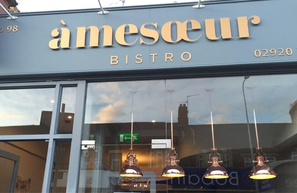 Amesoeur bistro shopfront design Cardiff