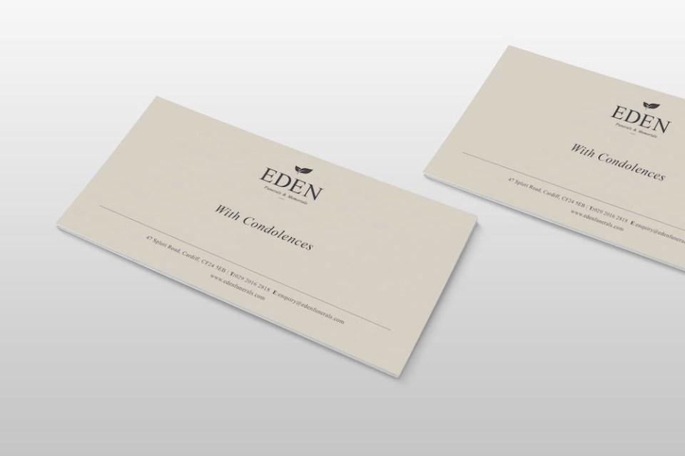 print design for funerals & memorials service Eden