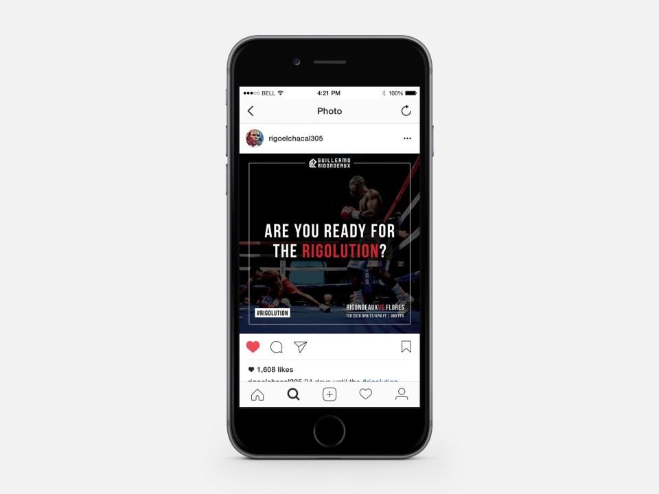 Social media campaign for world champion boxer