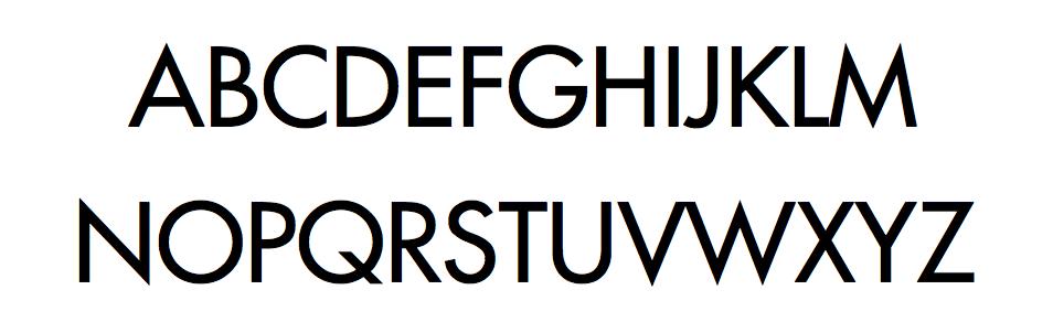 Unanimous games typeface