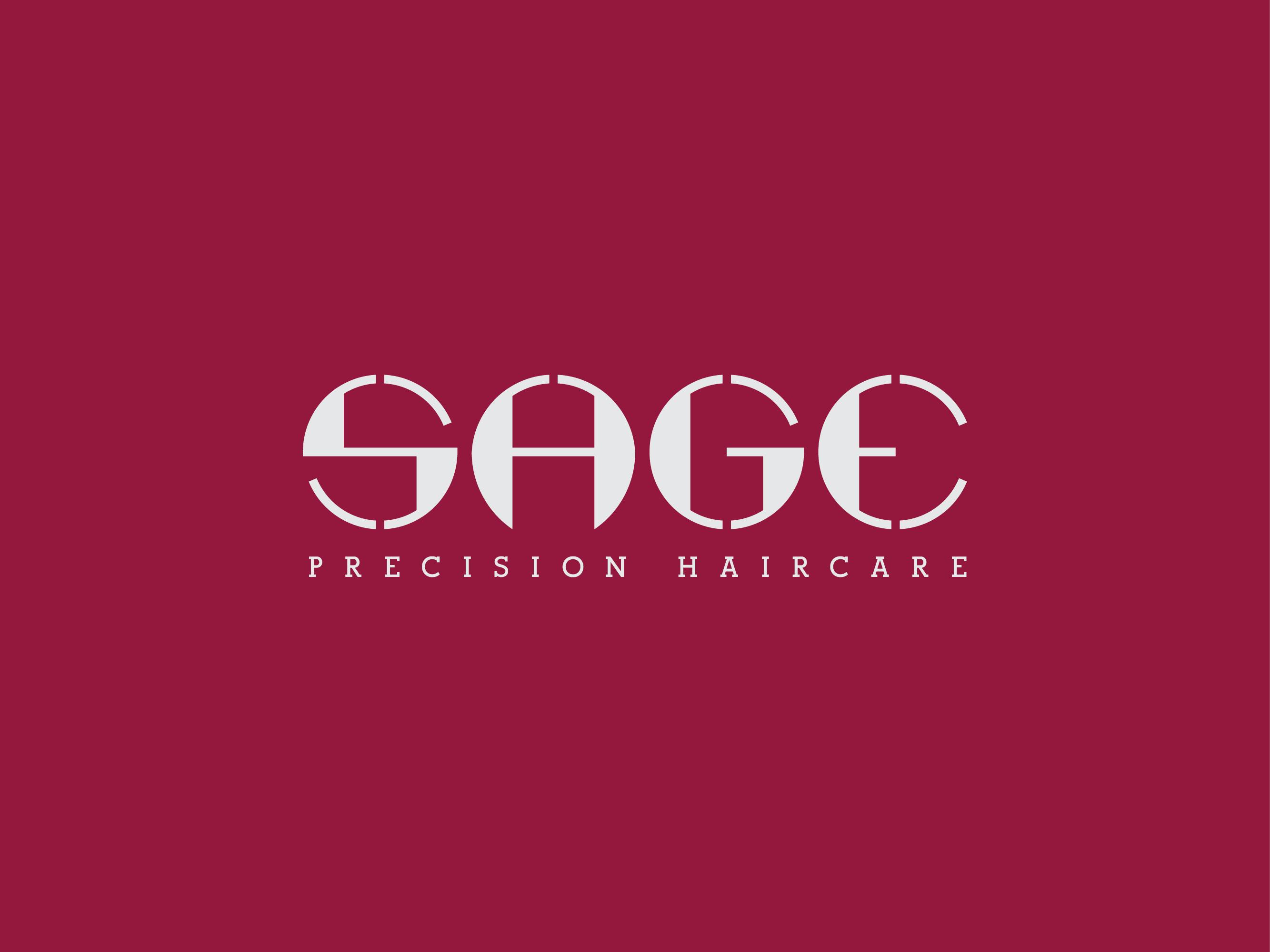 Sage precision haircare logo design