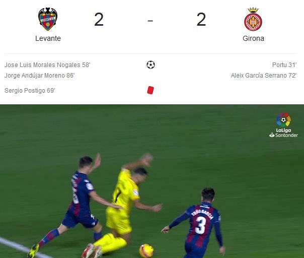 Levante Vs Girona (liga Spanyol 2018-2019)