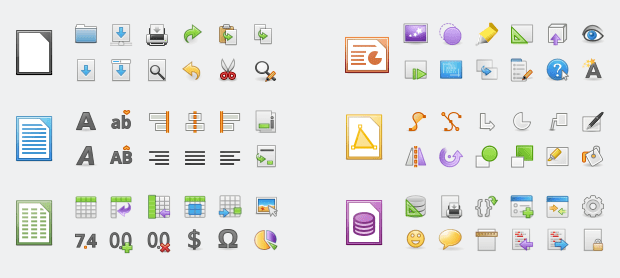 Elementary Icon Theme in LibreOffice 6