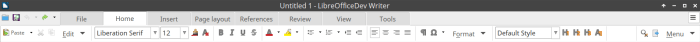 Tabbed Compact Notebookbar Variant in LibreOffice 6 Writer