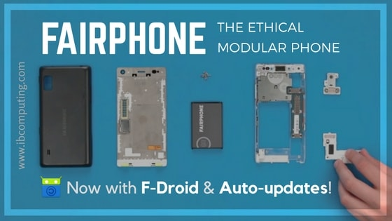 Fairphone ships phones with F-Droid integrated; auto-update enabled