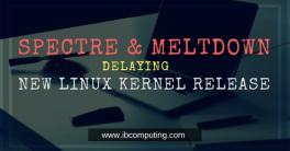 Spectre & Meltdown delaying new Linux kernel release