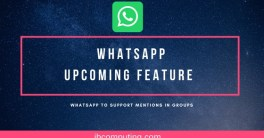 WhatsApp to support mentions in Groups