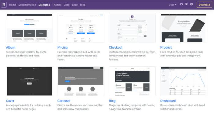 Bootstrap 4 new features
