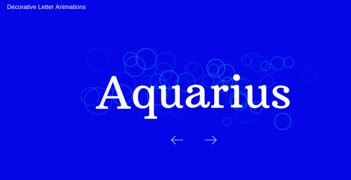 Letter Animations using Javascript Library Animation 2