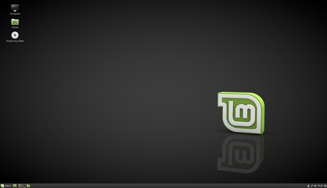 linux mint desktop view