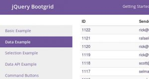 Jquery Bootgrid - A full featured Responsive Data Tables plugin