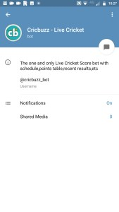 Cricbuzz Bot - Ten Useful Telegram Bots