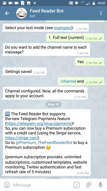 The Feedreader Bot