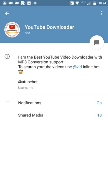 YouTube Downloader Bot