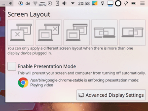 kscreen presentation plasmoid