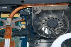 Støvtett vifte på bærbar PC