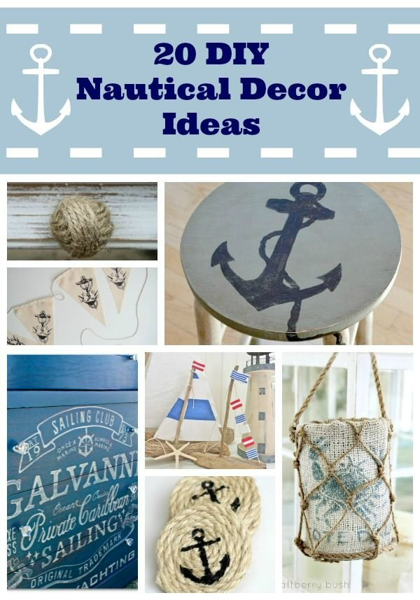 Nautical Decor Craft Ideas DIY- Holiday & Winter (1/2)