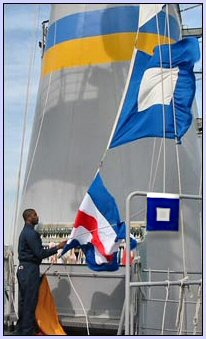 Different Sizes of Maritime Nautical International Signal Flags