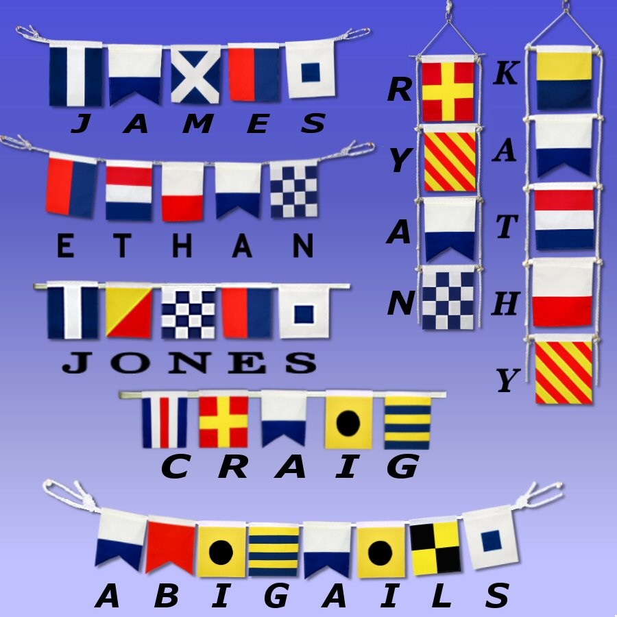 Spell your Name with Nautical Signal Flags