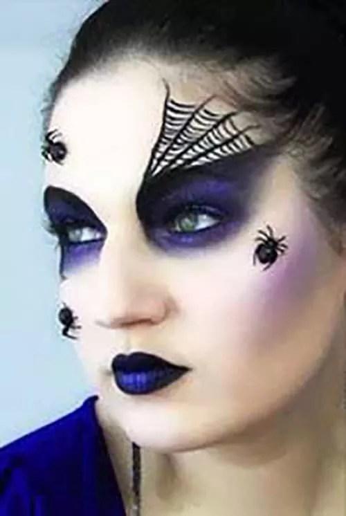 Purple spider witch