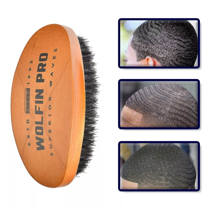 Wolfin Pro- Premium Curved 360 Wave Brush