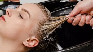Can you bleach wet hair feature