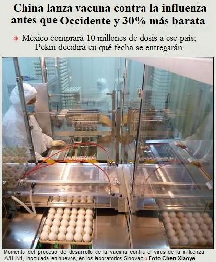 Imagen Empresa Sinovac elaborando la vacuna contra el virus de la Gripe A