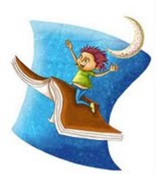 Imagen nino disfrutando su libro con fantasia.Imagen tomada de la web