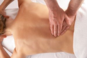 massage of the lower back