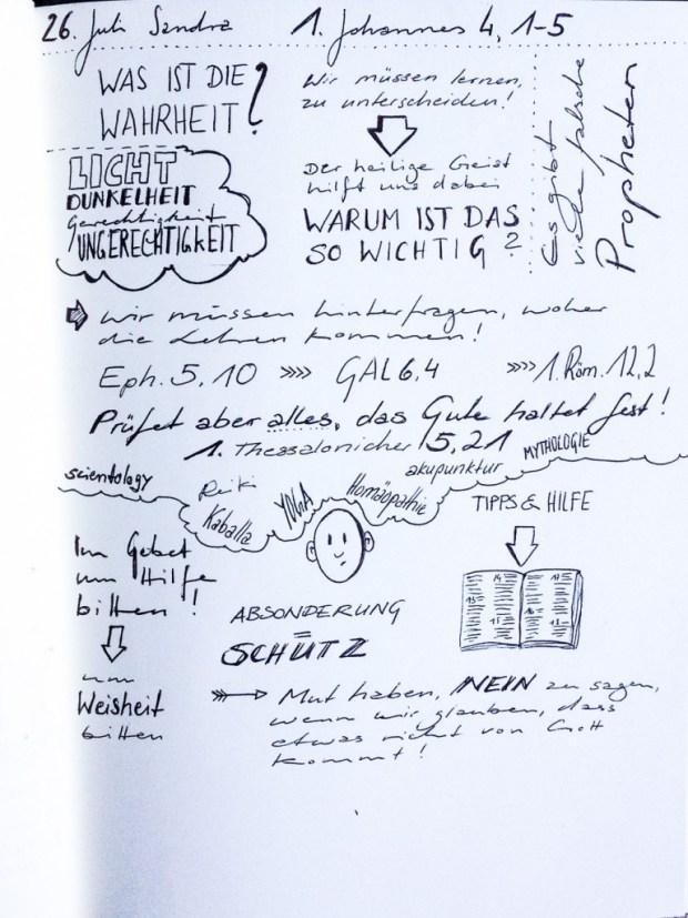 Gottesdienst sketchnote 26.07