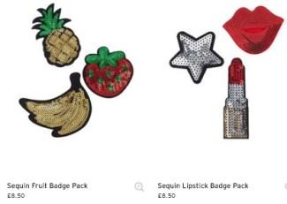 topshop badge pack