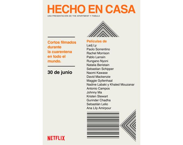 Netflix estrenará cortos «de cuarentena» de tres directores latinoamericanos