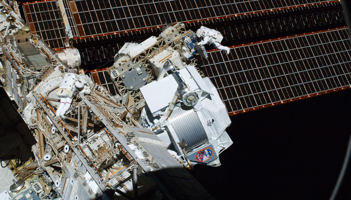 AMS02 experiment on the International Space Station which includes IberEspacio Heat Pipes