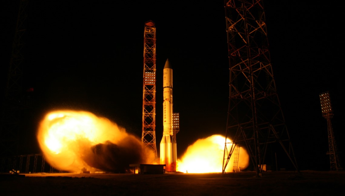 Asiasat 9 launched on board a Proton M launcher Photo Credit ILS