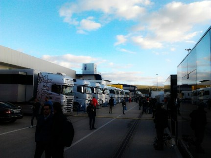 The simplicity of the paddock in Jerez