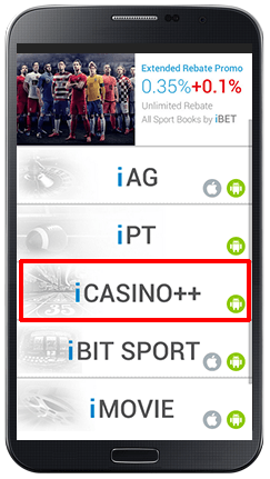 Installing iCASINO++ on Android-step 1