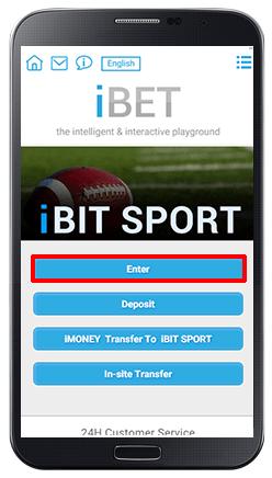 Accessing iBIT SPORT-step 2