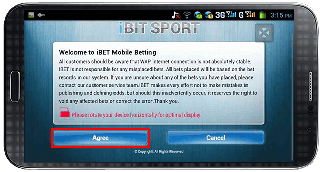 Accessing iBIT SPORT-step 3