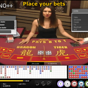 iCASINO++ Dragon & Tiger game screen