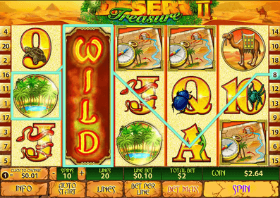 Try the No Download Desert Treasure 2 Slot