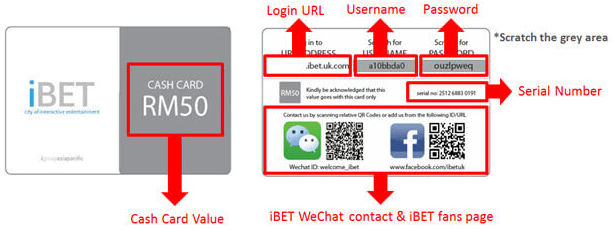 iBET CASH CARD