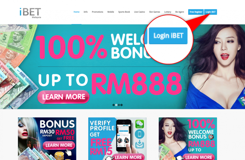 iBET Online Casino teach you verify Wechat get free RM5!