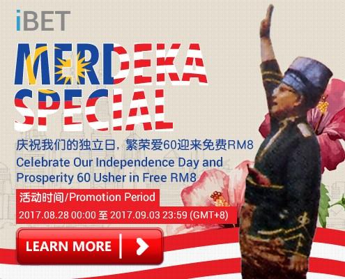 Happy 60th Merdeka by iBET Free Bonus RM8