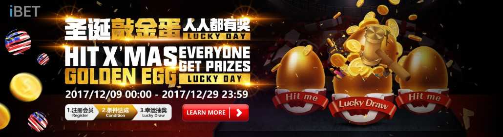 iBET Hit X'mas Golden Egg Lucky Draw Everyone Get Prizes